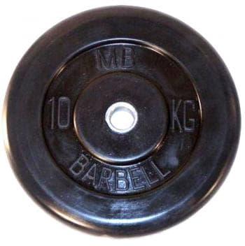 Диск МВ Barbell обрезиненный 50мм  10кг - Штанги и диски, артикул:9602