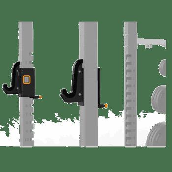 Крюки для олимпийского грифа для силовой рамы Matrix Magnum OPT1R - Силовые рамы и стойки, артикул:9223