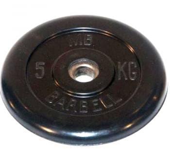 Диск МВ Barbell обрезиненный 26мм  5кг - Штанги и диски, артикул:9585