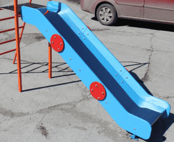 Скат Нержавейка с Старт площадкой для горки высота Н=90см - Аксессуары к ДСК, артикул:8938