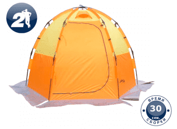 Палатка для зимней рыбалки World of Maverick ICE 3 orange - Палатки, артикул:8098