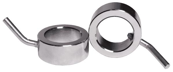 Замок олимпийский кольцо со стопором (пара) - Замки для грифов, артикул:5247