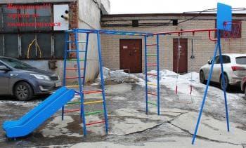 ДСК Гимнаст без горки цвет снеговик - Уличное оборудование, артикул:8331