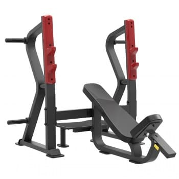 Олимпийская скамья с положительным наклоном для жима Aerofit Professional Impulse Sterling SL7029 - Для жима штанги, артикул:10281