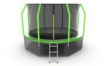 Батут Evo Jump Cosmo 12ft (Green) + Lower net - , артикул:10784