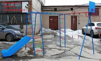 ДСК Гимнаст без горки цвет солнышко - Уличное оборудование, артикул:8332
