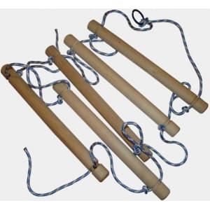 Лестница веревочная деревянная 5 ступенек - Аксессуары к ДСК, артикул:5817