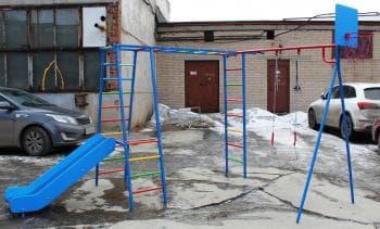 ДСК Гимнаст грка из наржавейки цвет синий - Уличное оборудование, артикул:7228
