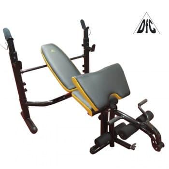 Силовая скамья со стойками DFC D-730 - Для жима штанги, артикул:9003