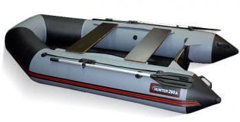 Надувная лодка Хантер 290 ЛКА серый - Хантер, артикул:9465