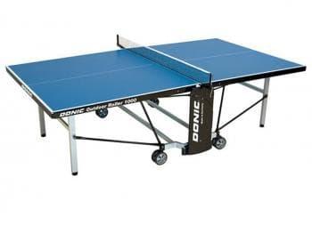 Теннисный стол Donic Outdoor Roller 1000 синий - Теннисные столы всепогодные, артикул:6313