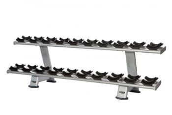 Двухъярусная стойка для гантелей AeroFit Professional Inotec Free Weight Line Е34 - Стойки для хранения, артикул:10439