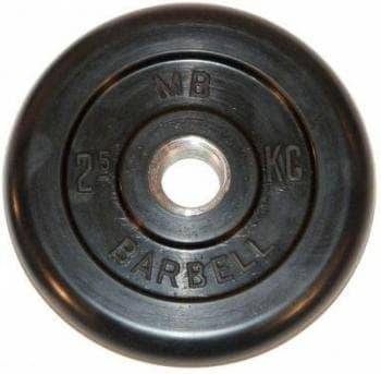 Диск МВ Barbell обрезиненный 30мм  2.5кг - Штанги и диски, артикул:9593