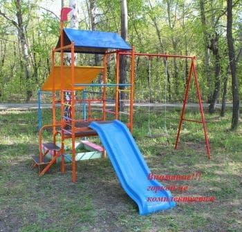 ДСК Башня без горки цвет оранжевый - Уличное оборудование, артикул:8296