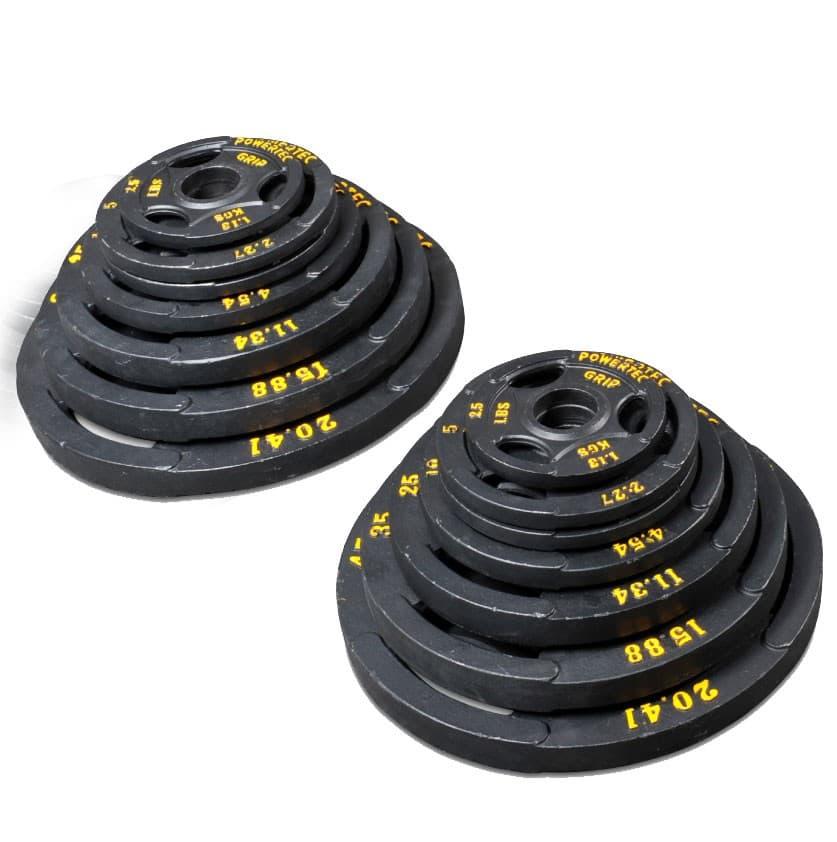 Набор олимпийских дисков для тренажеров powertec 116 кг - Штанги и диски, артикул:4088