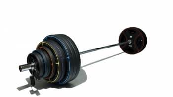 Штанга олимпийская 225 кг (диски-TPU) - Штанги и диски, артикул:9481