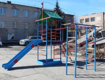 ДСК Замок  П цвет коричневый - Уличное оборудование, артикул:7155