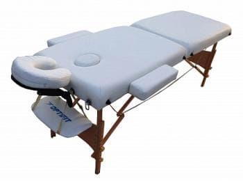Складной массажный стол Optifit Belleza белый - Массажные столы, артикул:7330