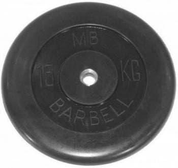 Диск МВ Barbell обрезиненный 50мм  15кг - Штанги и диски, артикул:9603