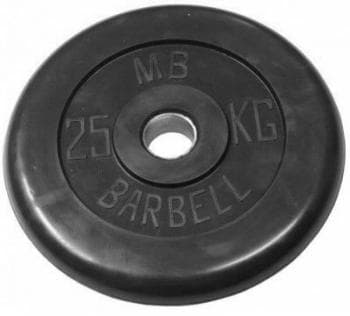 Диск МВ Barbell обрезиненный 30мм  25кг - Штанги и диски, артикул:9598