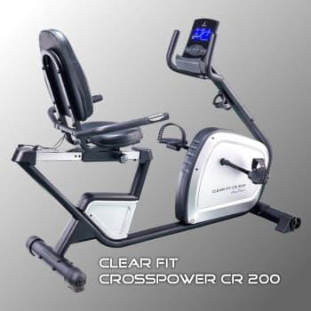 Горизонтальный велотренажер Clear Fit CrossPower CR 200 - Велотренажеры, артикул:10088