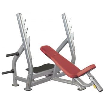 Наклонная скамья для жима лежа со стойками AeroFit Professional Impulse Techno IT7015 - Для жима штанги, артикул:10307