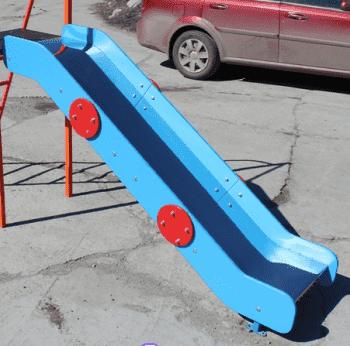 Скат Нержавейка для горки высота Н=80см - Аксессуары к ДСК, артикул:8930