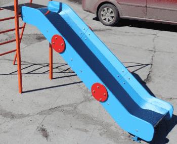 Скат Нержавейка с Старт площадкой для горки высота Н=120см - Аксессуары к ДСК, артикул:8935