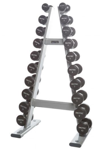 Стойка для гантелей AeroFit Professional Inotec Free Weight Line Е50 - Стойки для хранения, артикул:10453
