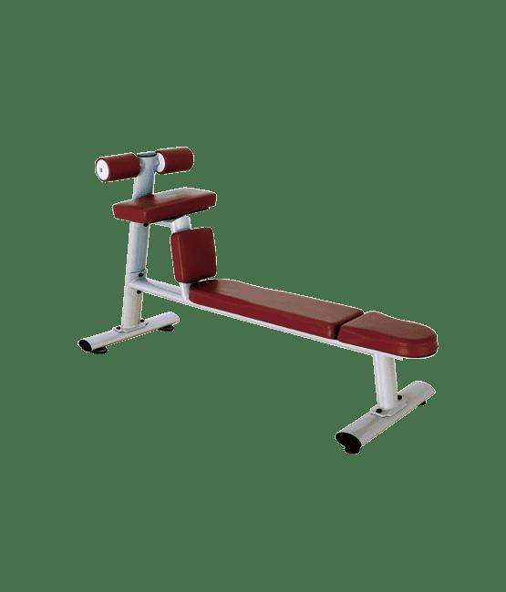 Скамья для скручиваний горизонтальная BRONZE GYM H-035 - Для пресса и спины, артикул:5179